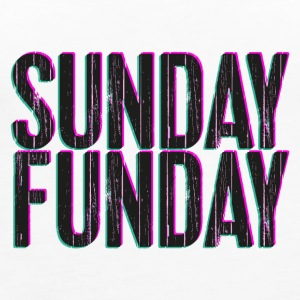 Sunday Funday 3D look typeface pink/turquoise - Women's Premium Tank Top