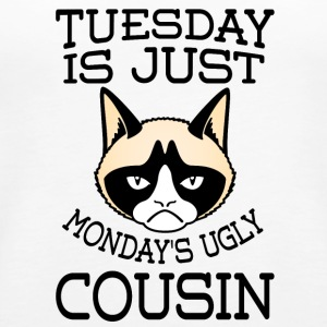 grumpy cat Tuesday is just Monday s ugly cousin - Women's Premium Tank Top