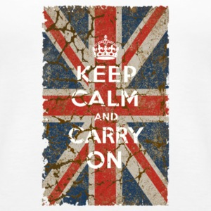 UK Flag and Keep Calm Hybrid - Women's Premium Tank Top