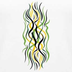 abstract green curves - Women's Premium Tank Top