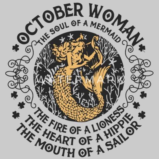 October Women Libra - Astrology Zodiac Women's Premium Tank Top