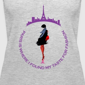 Paris Fashion Design 2 - Women's Premium Tank Top