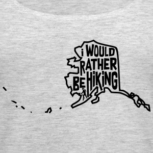 I would rather be hiking - Women's Premium Tank Top