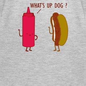 What Up Dog Ketchup Hot Dog - Women's Premium Tank Top