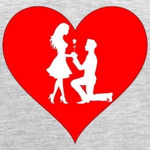 couple in a heart - Women's Premium Tank Top