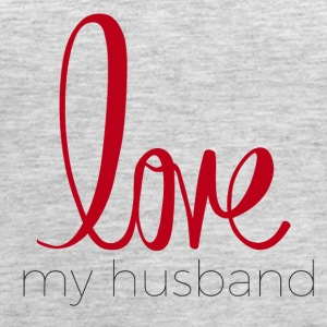 love my husband - Women's Premium Tank Top