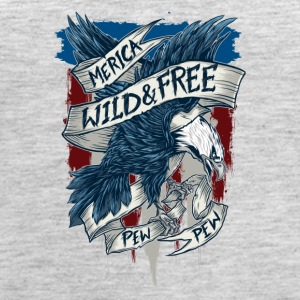 Merica home of the wild free eagle - Women's Premium Tank Top