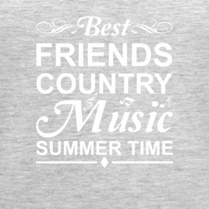 Best Friends Country Music Summer Time - Women's Premium Tank Top
