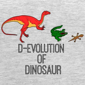 D evolution of Dinosaur creature - Women's Premium Tank Top