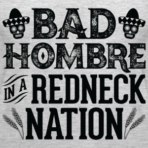 Bad Hombre in a Redneck Nation (Black Graphic) - Women's Premium Tank Top