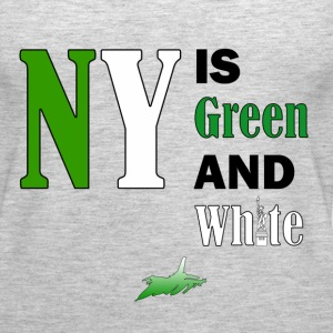 NY Green and White - Women's Premium Tank Top
