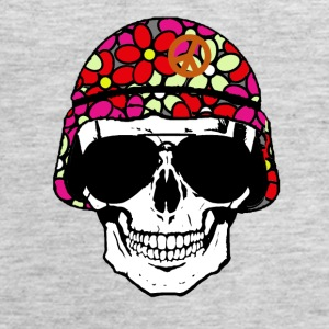 Peace Army Skull (4022) - Women's Premium Tank Top