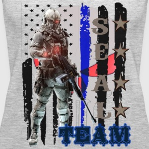 PROUD OF SEAL TEAM TSHIRT - Women's Premium Tank Top