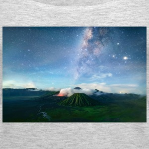 Volcano with the pretty Galaxy - Women's Premium Tank Top