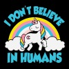 Unicorns - I don't believe in humans - Women's Premium Tank Top