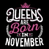 Born Birthday Bday Queens November - Women's Premium Tank Top