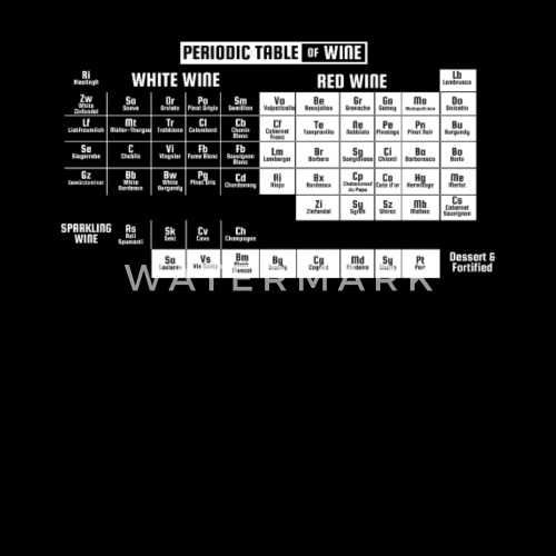 Periodic Table Of Wine T Shirt Gift By Eagleshirts Spreadshirt