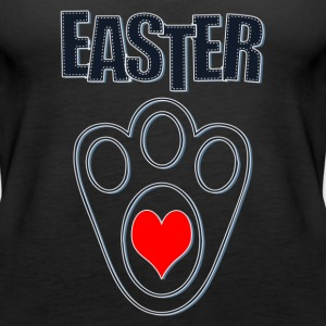 Easter Bunny Footprints, Easter Heart Bunny - Women's Premium Tank Top