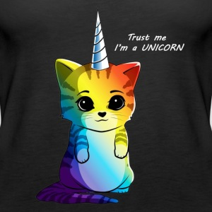 Caticorn Rainbow Funny Cat Unicorn Kittycorn - Women's Premium Tank Top