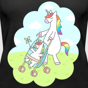 Unicorn Mama Gift Shirt Pre - Women's Premium Tank Top