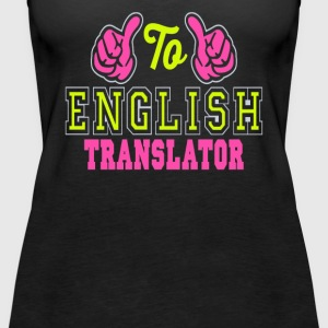 To English translator - Women's Premium Tank Top