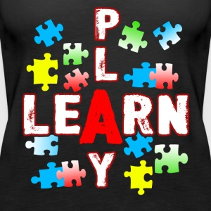 JIGSAW PUZZLE LEARN AND PLAY SHIRT - Women's Premium Tank Top