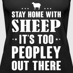 Stay home with Sheep - Women's Premium Tank Top