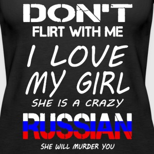 RUSSIAN GIRL SHIRT - Women's Premium Tank Top
