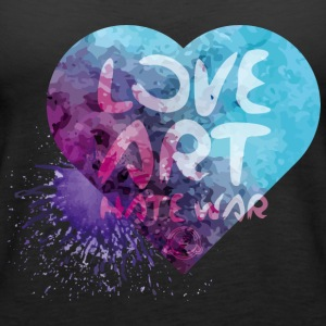 Love Art Hate War Heart - Women's Premium Tank Top
