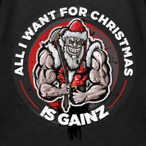 Tough Santa - All I want for Christmas is Gainz - Women's Premium Tank Top