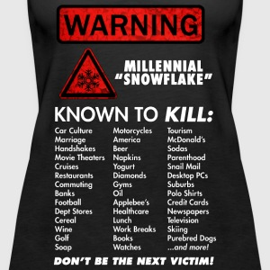 Warning - Millennials KILL! - Women's Premium Tank Top