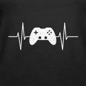 GAMING IS MY LIFE GAMER VIDEOGAMES COOL HEARTBEAT - Women's Premium Tank Top