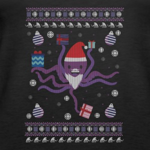 Holiday Ugly Christmas Sweater OCTOPUS CHRISTMAS - Women's Premium Tank Top