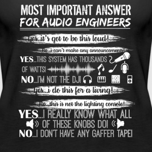 Audio Engineer Shirt - Women's Premium Tank Top