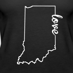 Indiana Love State Outline - Women's Premium Tank Top