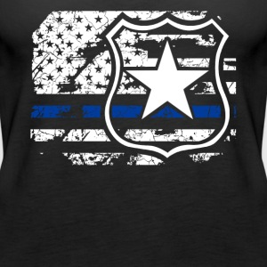Police Flag Shirt - Women's Premium Tank Top