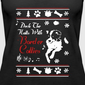 Border Collie Xmas Shirt - Women's Premium Tank Top