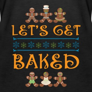 Let s Get Baked Christmas Backing Ugly Shirt - Women's Premium Tank Top