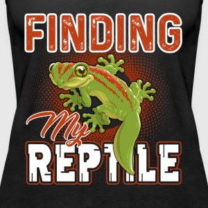 Reptile Shirt - Finding My Reptile Shirt - Women's Premium Tank Top