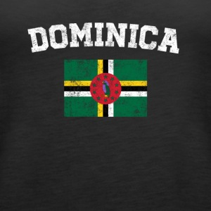 Dominican Flag Shirt - Vintage Dominica T-Shirt - Women's Premium Tank Top