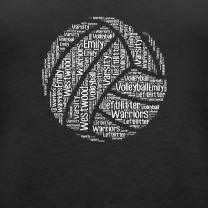 Volleyball words tshirt - Women's Premium Tank Top