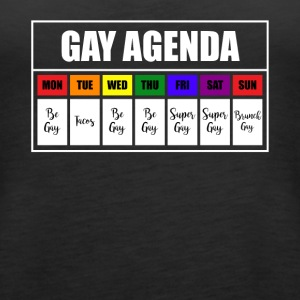lgbt gay agenda t shirt - Women's Premium Tank Top
