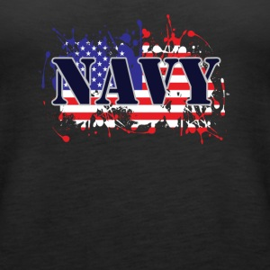 Navy and Flag - Women's Premium Tank Top