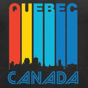 Retro Quebec Skyline - Women's Premium Tank Top