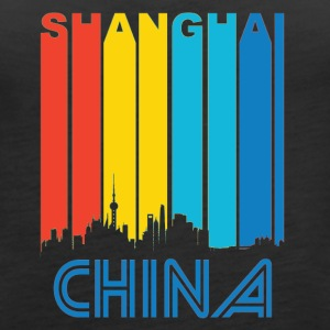 Retro Shanghai Skyline - Women's Premium Tank Top