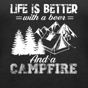 Funny Camping With A Beer Tshirt - Women's Premium Tank Top