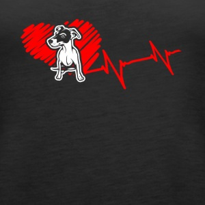 Jack Russell Terrier Heartbeat Shirt - Women's Premium Tank Top