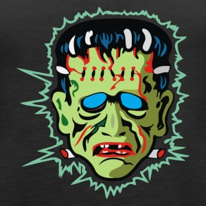 Vintage Frankenstein Mask - Women's Premium Tank Top