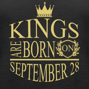 Kings are born on September 28 - Women's Premium Tank Top