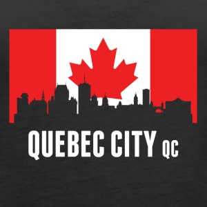 Canadian Flag Quebec Skyline - Women's Premium Tank Top
